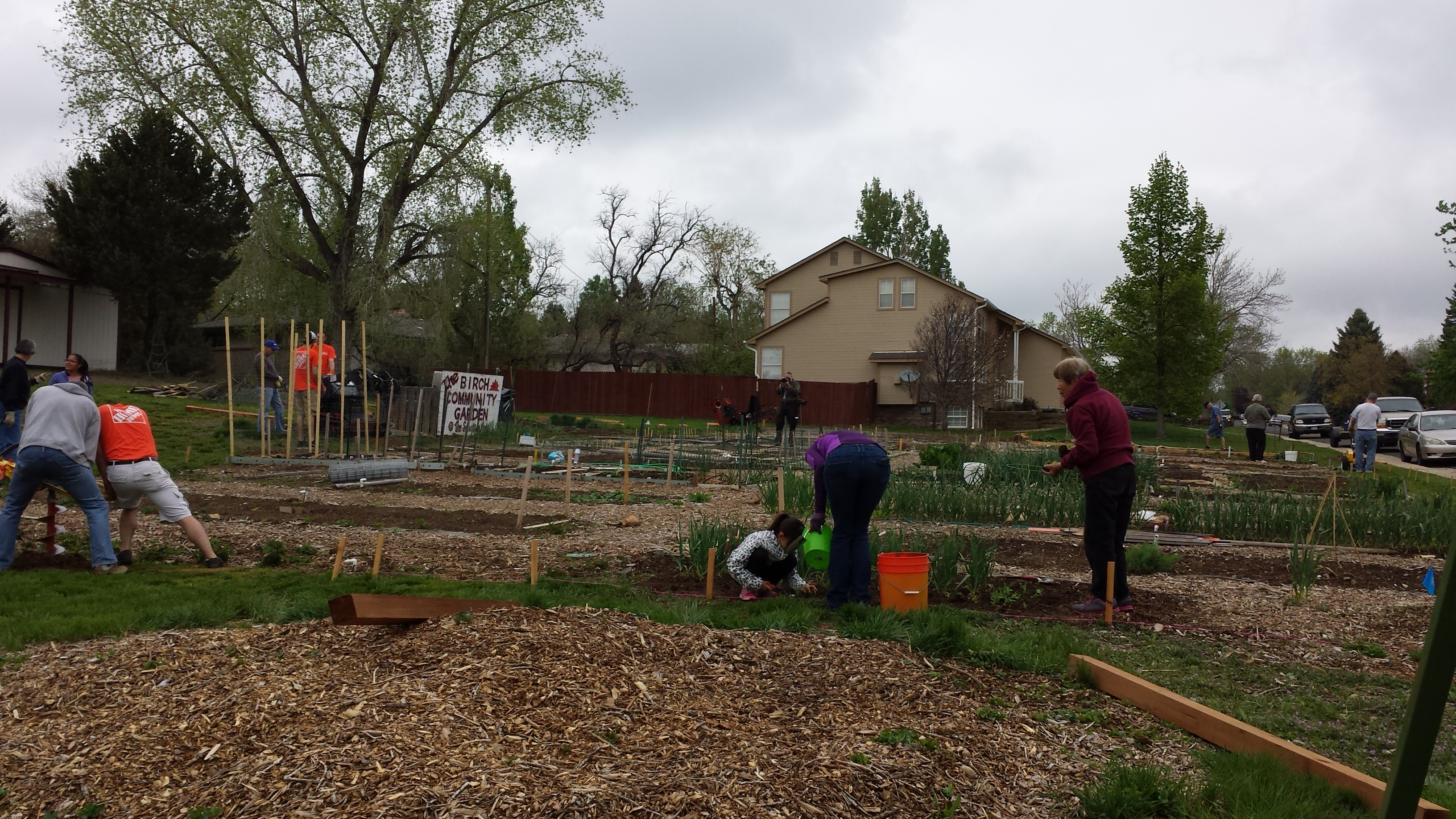 Thanks to Home Depot and Birch Community Garden Volunteers the fence ...