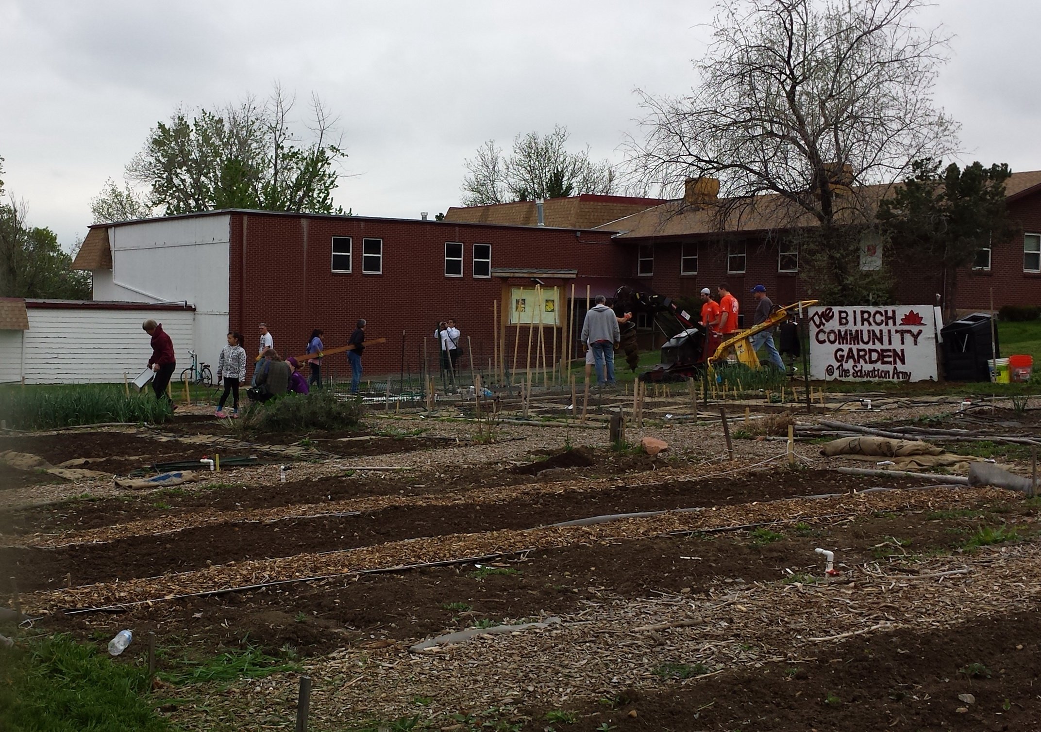 Thanks to Home Depot and Birch munity Garden Volunteers the fence